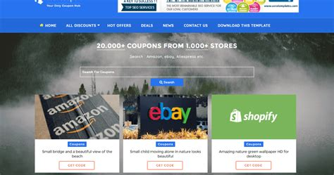 blogger templates for coupons your coupon blogger template blogger templates gallery