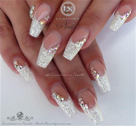 beauty 25 pattern acrylic nail tips french false nail art 25 best ideas about wedding acrylic nails on pinterest
