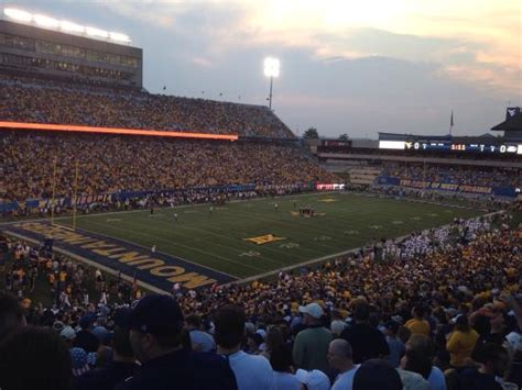 wvu student section student section picture of mountaineer field morgantown