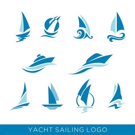 sailboat logo yacht sailing logos vector