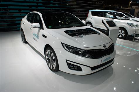 Kia Diesel Hybrid Kia S Optima T Hybrid Bolts An Electrical Supercharger On
