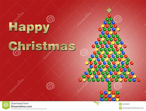 happiest christmastree happy in gold with a tree royalty free stock photography image 22249207