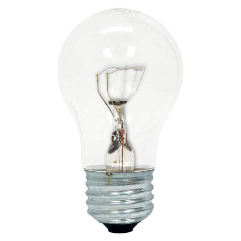 ceiling fan light bulb wattage ge 40 watt incandescent a15 ceiling fan double life clear