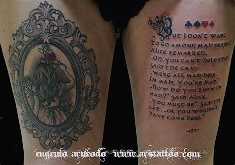 tatuaggi interno coscia lettering e black and white ars