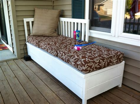 porch storage bench ana white porch bench with storage diy projects