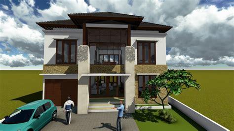 desain rumah depan belakang koleksi foto desain rumah minimalis 2 lantai tak depan