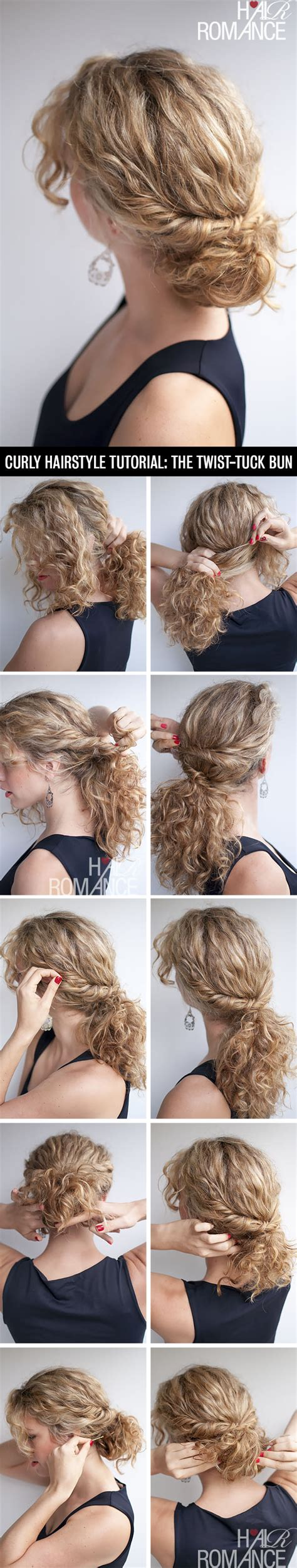 curly hair updos step by step curly hairstyle tutorial the twist tuck bun hair romance