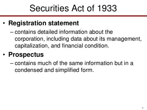 section 11 securities act of 1933 bus 116 chap028 corporate regulation