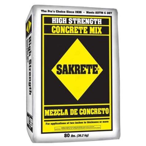 sakrete 80 lb gray concrete mix 65200390 the home depot