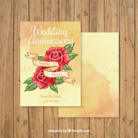 Wedding Anniversary Cards Free by Roses Wedding Anniversary Card Vector Free
