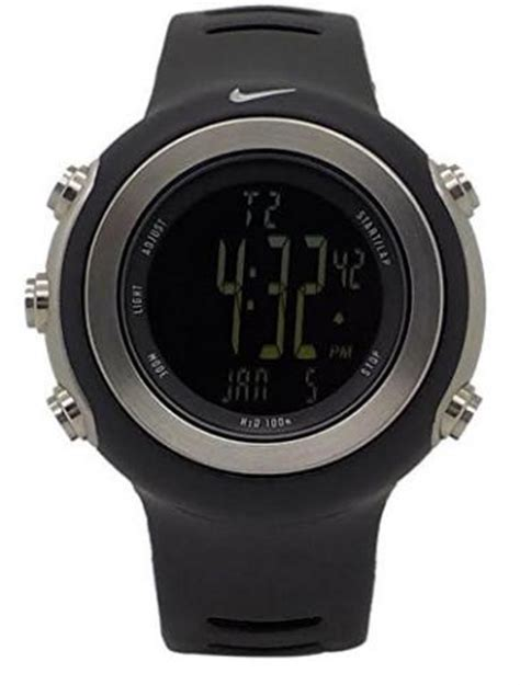 nike oregon digital black chronograph sports