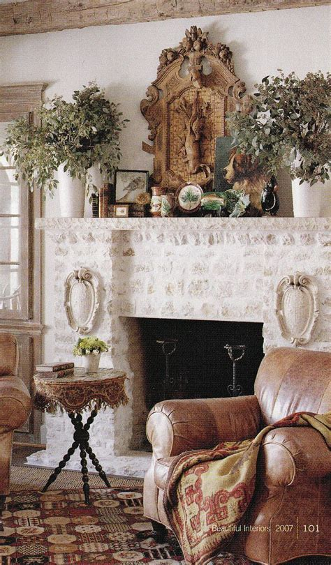 Decorating The Mantel For The Home Living Rooms Cottage Style Fireplace Mantels