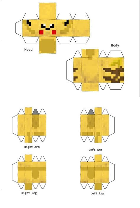 Papercraft Pikachu - papercraft pikachu paper craft for alva