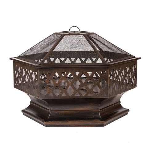 hexagon pit ventura hexagon wood burning pit samsclub