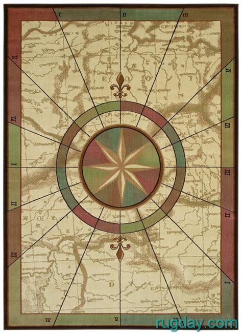compass rug kathy ireland nautical charts maps compass 4x6 area rug