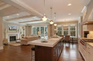 open floor plan kitchen living room family home home bunch interior design ideas