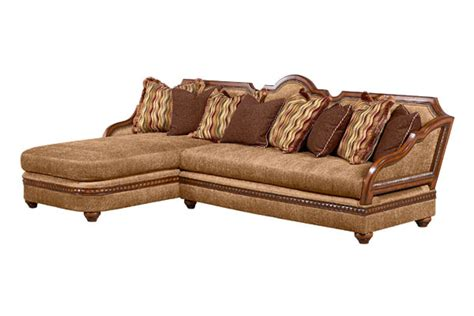 wood trim sofas benetti s italia lucianna wood trim sectional sofa set