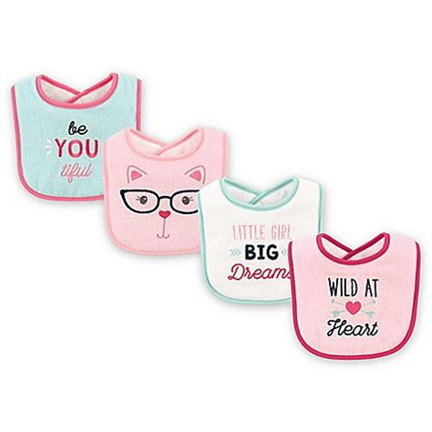 Luvable Friends Droller Bib With Closure babyvision 174 luvable friends 174 4 pack drooler bibs in teal buybuy baby