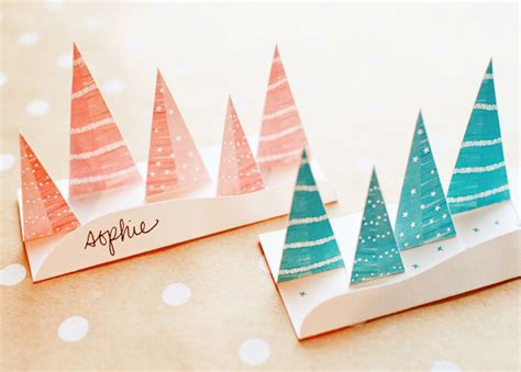 printable paper pop up printable pop up winter forest place cards