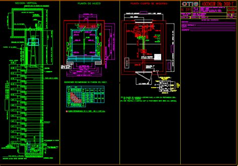 elevator template  information dwg full project