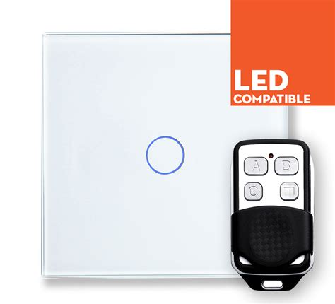 remote control dimmer light switch retrotouch white touch led dimmer with remote 1 way plain