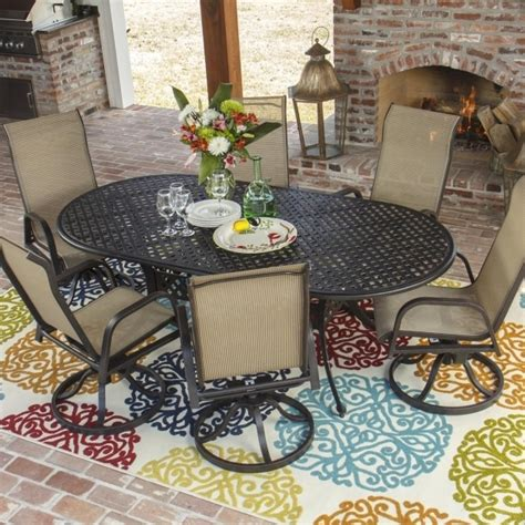 solana bay 7 patio dining set martha stewart living solana bay 7 patio dining set