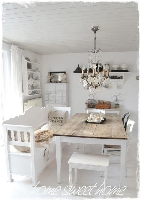 dining room whitewashed cottage chippy shabby chic french