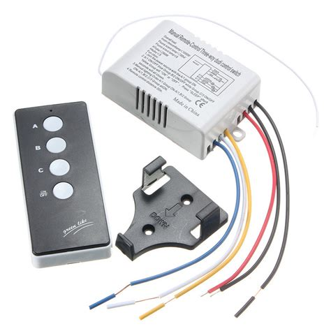 wireless light switch transmitter and receiver 220v wireless on 3 way l light remote