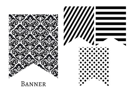 Wedding Banner Black And White by Modern Chanel Inspired Black And White Banner Magical