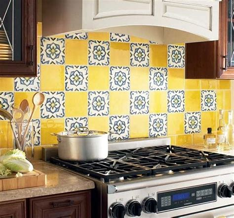 backsplash ideas for kitchen walls colorful backsplash yellow kitchen ideas yellow kitchen