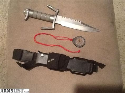 buck 184 survival knife for sale armslist for sale buck 184 navy seal survival knife with original compass