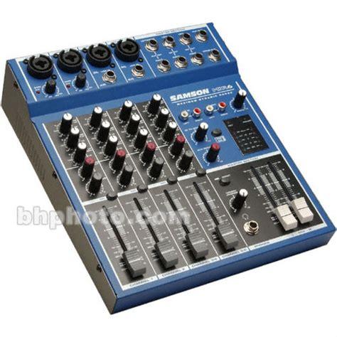 Mixer Samson Mdr6 samson mdr6 6 input stereo desktop mixer samdr6 b h photo