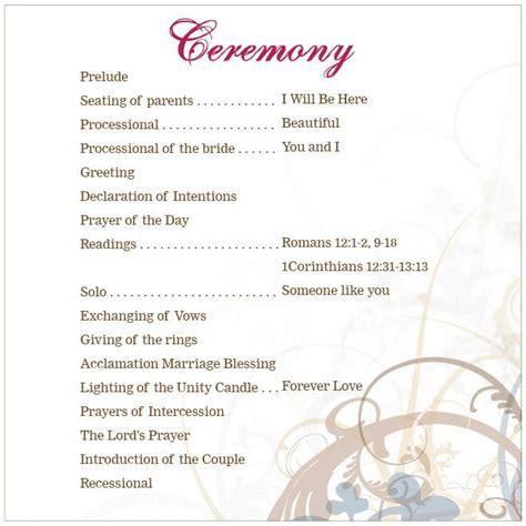 church program outline