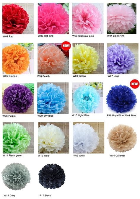 Pompom Decoration Polos Uk 20cm wedding decorations 10 tissue paper pompoms 2 sizes