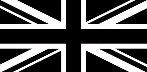 flag white black union black white 8 x 5 flag