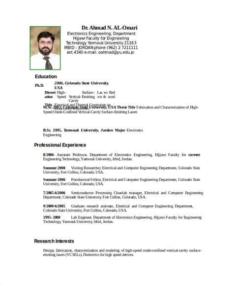 Resume Template Electronics Technician electronics resume template 8 free word pdf document