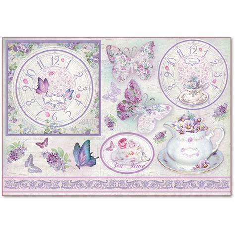 ladari in carta di riso carta di riso orologio farfalle e fiori carta di riso