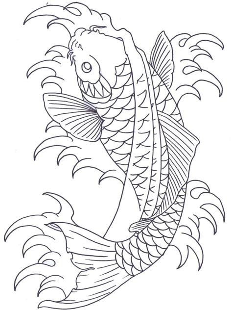 koi fish tattoo outline designs koi fish outline designs