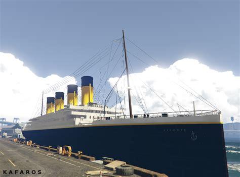 sinking boat gta 5 titanic low quality gta5 mods
