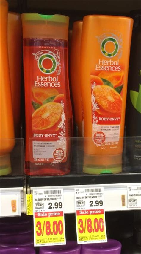 kroger mega sale herbal essences hair care only 0 69 herbal essences hair care 1 16 at kroger reg 2 99