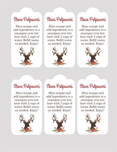 Printable Christmas Potpourri Tags | christmas stovetop potpourri gift idea see vanessa craft