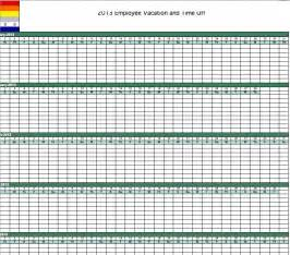 Excel Calendar Template 2013 by 2014 Employee Vacation Tracking Calendar Template Apps