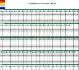 2013 employee vacation tracking calendar excel template caroldoey