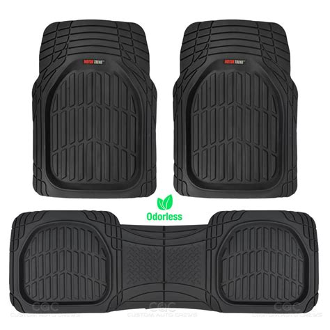 Rubber Mats For Car by Flextough Shell Rubber Floor Mats Black Heavy Duty