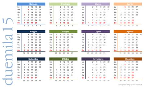 Calendario A Settimane 2015 Calendario 2015 Da Stare Scarica Gratis Il Calendario
