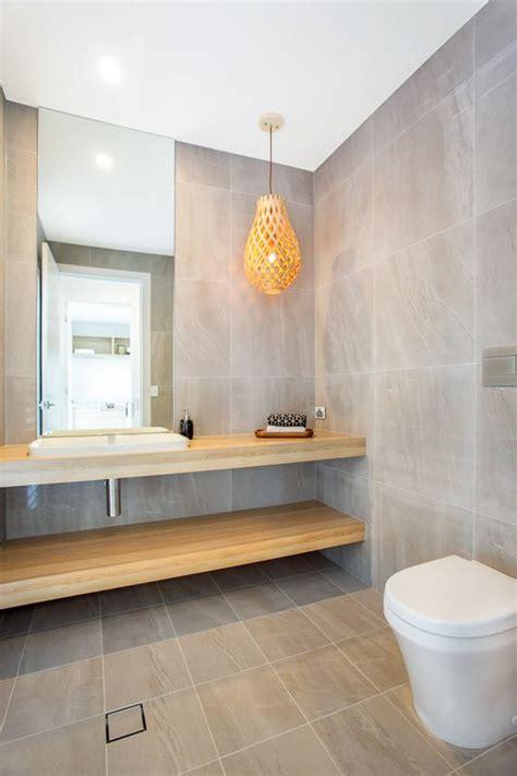 Modern Bathroom Cabinetry by Stunning Modern Bathroom Vanity In Polytec Oak