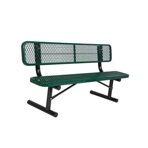 bench commercial ultra play 6 ft diamond blue commercial park bench with