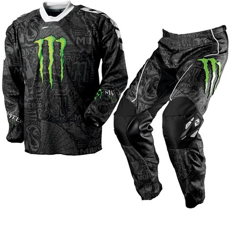 monster energy motocross gloves one industries carbon monster energy motocross kit