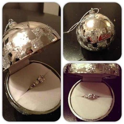 ornament engagement ring surprise diy cozy home