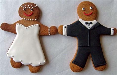 Wedding Bell Favours by Gingerbread And Groom Cookies Z Bridal Luncheon